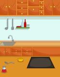 Cute kitchen cartoon Royalty Free Stock Photography