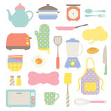 Cute Kitchen Collection stock illustration