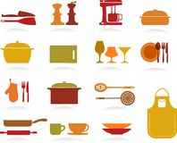 Cute Kitchen Collection Stock Images