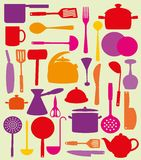 Cute kitchen pattern. Royalty Free Stock Photography