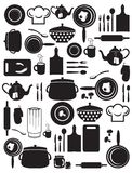 Cute kitchen pattern Stock Photo
