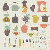 Cute kitchen set Royalty Free Stock Photos