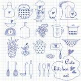 Cute kitchen set Stock Image