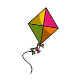 Cute kite flying icon Royalty Free Stock Image