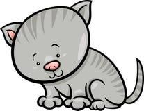 Cute kitten cartoon illustration Royalty Free Stock Photos