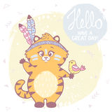 Cute kitten color Stock Images