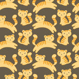 Cute kitten pattern Royalty Free Stock Images