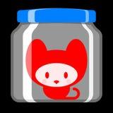 Cute kitten in preserving jar Stock Photo