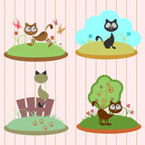 Cute kitten set Stock Images