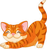 Cute kitten stretching stock illustration