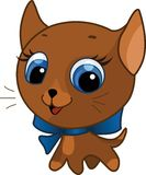 Cute kitten vector illustration Stock Photo