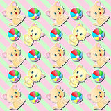 Cute Kittens Background Wallpaper Pattern Stock Images