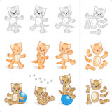 Cute kittens cartoon characters Stock Photography