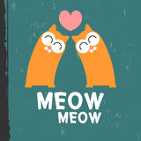 Cute kittens in love Stock Images