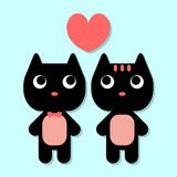 Cute kittens in love Royalty Free Stock Images