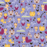 Cute kittens seamless pattern Royalty Free Stock Photography