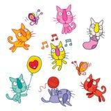 Cute kittens set Stock Image