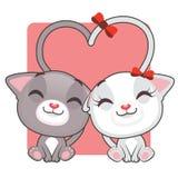 Cute kitties in love Royalty Free Stock Photos