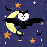 Cute kitty in bat costume Stock Image