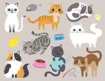Cute Kitty Cat Vector Illustration royalty free illustration