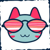 Cute kitty in glasses Royalty Free Stock Images