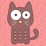 Cute kitty. Illustration of a cute kitty stock illustration