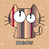 Cute kitty illustration Royalty Free Stock Photography