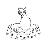 Cute kitty mascot icon Royalty Free Stock Images