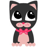 Cute kitty with pink bow. Cute little kitty with pink bow Stock Photo
