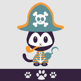 Cute kitty pirate Royalty Free Stock Photos