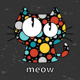 Cute kitty. Seamless texture illustration Stock Images
