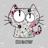Cute kitty. Seamless texture illustration Stock Image
