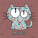 Cute kitty. Seamless texture illustration stock illustration