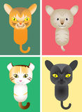 Cute kitty, Vector Illustration Stock Photos