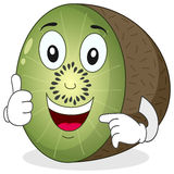 Cute Kiwi Character with Thumbs Up Royalty Free Stock Images