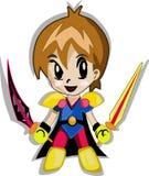 Cute Knight Boy Cartoon Stock Photos