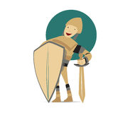 Cute Knight Mascot Design Stock Image