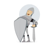 Cute Knight Mascot Design Royalty Free Stock Image