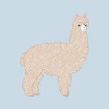 Cute knitted alpaca Royalty Free Stock Photo