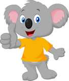 Cute koala cartoon giving thumb up  Stock Image