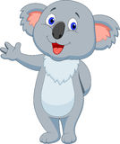 Cute koala cartoon hand waving Royalty Free Stock Images