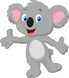 Cute koala cartoon posing Stock Images