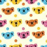 Cute koala seamless pattern. Vector background Stock Image