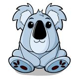 Cute koalas. Illustration of children koalas are cute and adorable Stock Images