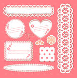 Cute Lace Vector Frames Collection Royalty Free Stock Image
