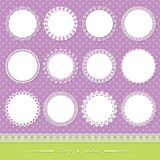 Cute lacy doilies big set. Vector illustration Royalty Free Stock Photography