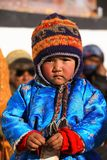 Cute Ladakhi child at ancient monastery Stock Images