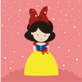 Cute lady in big ribbon Royalty Free Stock Photo