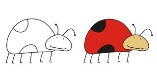 Cute lady bug Stock Photography
