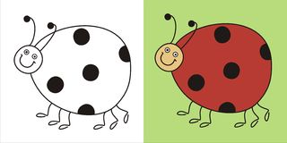 Cute lady bug. Drawn with a graphics tablet Royalty Free Stock Images
